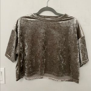 Urban Outfitters Crushed Velvet Top